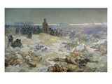 After the Battle of Grunwald in 1410  from the 'slav Epic'  1924
