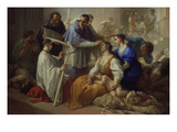 St Charles Borromeo with Plague Victims  1713