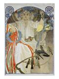 Plakat Fuer Das Gesangs- Und Musikfest Fruehling 1914 in Prag  1914