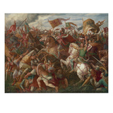 Rudolf of Habsburg Prevailing over Ottokar Ii (Battle on the Marchfeld) 1278