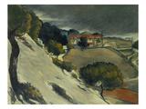First Snow Near L'Estaque  1870
