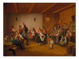 Dance in a Village Inn in Dachau  1846