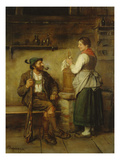 Huntsman and Maid Having a Chat in the Kitchen after 1850