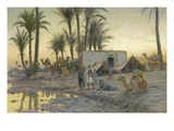 A Bedouin Camp at Gerzereh after Sunset  1893