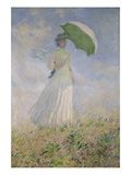 Woman with Parasol Turned to the Right (Susanne Hoschedé)  1886