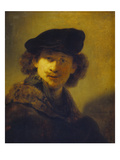 Self Portrait with Velvet Cap and a Cloak with Fur Collar  1634
