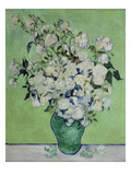 Vase with White Roses  1890