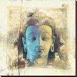 Lumière Bleue Tableau sur toile par Elvira Amrhein