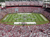 University of South Carolina: the Band Preforms Pregame in Williams-Brice Stadium