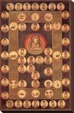 Buddha Circle Tableau sur toile par Jyakuchu Ito