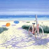 Le vélo rouge Impression sur toile par Henri Deuil