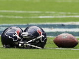 Houston Texans - Sept 9  2012: Houston Texans Helmet and Football