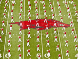 University of Arkansas: Arkansas Marching Band Performs at War Razorback Stadium