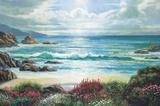 Blossoms By The Ocean Impression sur toile par Nenad Mirkovich