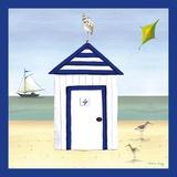 Maison de plage4 Impression sur toile par Katharine Gracey