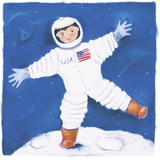 One Foot On The Moon Impression sur toile par Dona Turner