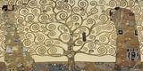 L'arbre de vie Impression sur toile par Gustav Klimt