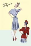 Pleated Sailor Dress with Jacket  1947