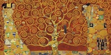 Tree of Life (red variation) Impression sur toile par Gustav Klimt