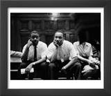 Rev Ralph Abernathy and Rev Martin Luther King Jr Sitting Pensively Re Freedom Riders