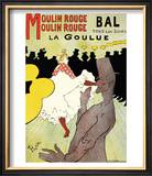 "Reproduction of a Poster Advertising ""La Goulue"" at the Moulin Rouge  Paris"