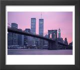Brooklyn Bridge  Twin Towers  NYC  NY