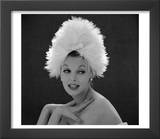 White Feathered Hat  1960s