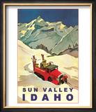 Sun Valley  Idaho  Vintage Truck with Skiers