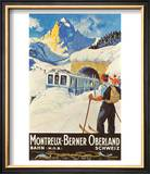 Montreux Ski Poster
