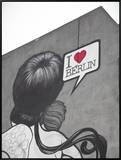 I Love Berlin&#39; Mural on Building  Berlin  Germany