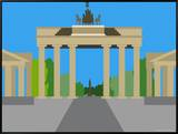 Illustration of the Brandenburg Gate  Berlin  Germany