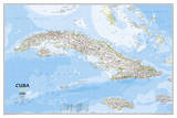 National Geographic - Cuba Classic Map Laminated Poster