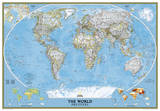 National Geographic - World Classic Map  Enlarged & Laminated Poster
