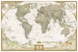 National Geographic - World Executive  Poster Size Map Laminated Poster