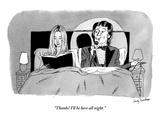 """Thanks! I'll be here all night"" - New Yorker Cartoon"