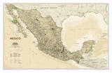 National Geographic - Mexico Executive Map Laminated Poster
