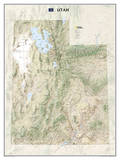 National Geographic - Utah Map Laminated Poster