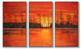 Autumn Sunset Triptych Art