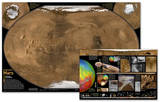 National Geographic - Mars Map   The Red Planet Map   Two-Sided Laminated Poster