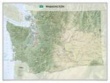 National Geographic - Washington Map Laminated Poster