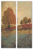 Fall Foliage Triptych Art