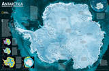 National Geographic - Antarctica Satellite Map Laminated Poster