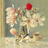Magnolia and Red Tulip