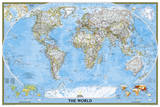 National Geographic - World Classic  poster size Map Laminated Poster