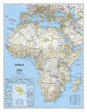 National Geographic - Africa Classic Map  Enlarged & Laminated Poster