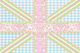 Union Jack  Blue  Green and Pink