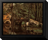 Pont de Maincy à Melun Tableau sur toile encadré par Paul Cézanne