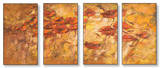 Fall Wind Scene Triptych Art