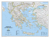 National Geographic - Greece Classic Map Laminated Poster