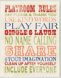 Playroom Rules Typography